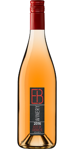 EB Winery 2016 Grenache Rose bottle shot - front